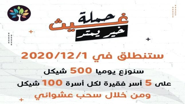 رابط تسجيل في حملة غيث خير يمتد للمساعدات النقدية بواقع 100 شيكل لتفاصيل اظغط هنا